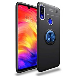 Etui na telefon Xiaomi Redmi Note 7 KARBON RING HOLDER Niebieskie
