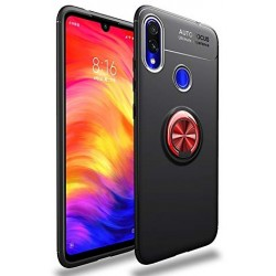 Etui na telefon Xiaomi Redmi Note 7 KARBON RING HOLDER Czerwone