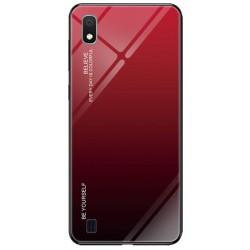 Etui na telefon Samsung Galaxy A10 GRADIENT szklane czerwone