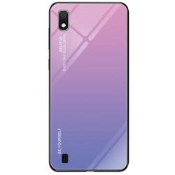 Etui na telefon Samsung Galaxy A10 GRADIENT szklane różowe