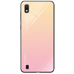 Etui na telefon Samsung Galaxy A10 GRADIENT szklane żółte