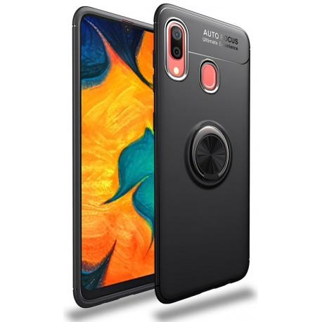 Etui na telefon Samsung Galaxy A40 KARBON RING HOLDER Czarne