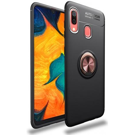 Etui na telefon Samsung Galaxy A10 KARBON RING HOLDER Niebieskie