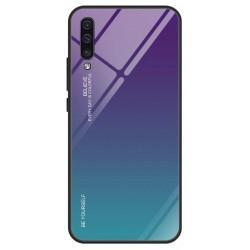 Etui na telefon Samsung Galaxy A70 GRADIENT szklane turkus