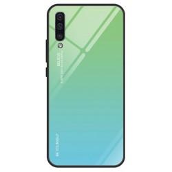 Etui na telefon Samsung Galaxy A70 GRADIENT szklane Zielone