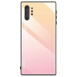 Etui na telefon Samsung Galaxy Note 10+ Plus GRADIENT szklane różowe