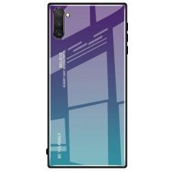 Etui na telefon Samsung Galaxy Note 10+ Plus GRADIENT szklane turkus