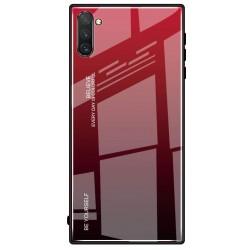 Etui na telefon Samsung Galaxy Note 10 GRADIENT szklane czerwone