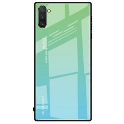Etui na telefon Samsung Galaxy Note 10 GRADIENT szklane zielone