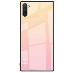 Etui na telefon Samsung Galaxy Note 10 GRADIENT szklane różowe