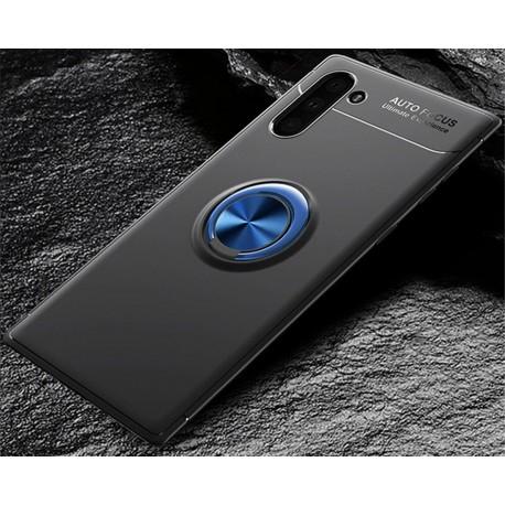 Etui na telefon Samsung Galaxy Note 10 KARBON RING HOLDER Czarne